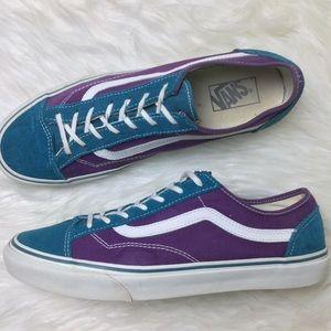 Vans Low Top Purple Teal Old Skool Vans